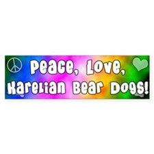 Hippie Karelian Bear Dog Bumper Bumper Sticker