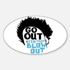 Blow Out Oval Decal