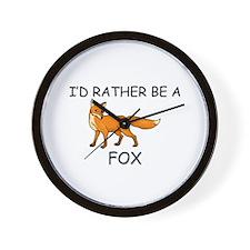 I'd Rather Be A Fox Wall Clock