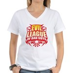 Evil League Of Bad Guys Women's V-Neck T-Shirt