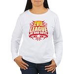 Evil League Of Bad Guys Women's Long Sleeve T-Shir