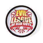 Evil League Of Bad Guys Wall Clock