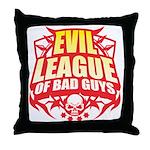 Evil League Of Bad Guys Throw Pillow