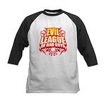 Evil League Of Bad Guys Kids Baseball Jersey