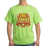 Evil League Of Bad Guys Green T-Shirt