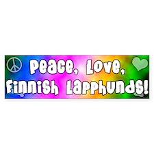 Hippie Finnish Lapphund Bumper Bumper Sticker