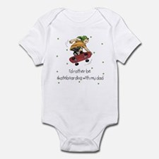 Skateboarding with Dad Baby Infant Bodysuit