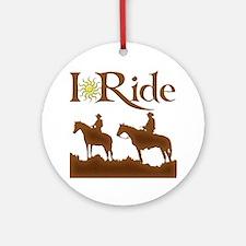 I Ride Ornament (Round)
