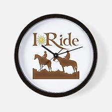 I Ride Wall Clock