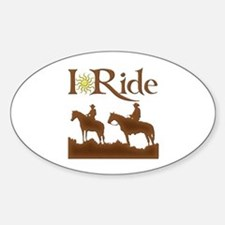 I Ride Oval Decal