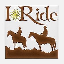 I Ride Tile Coaster