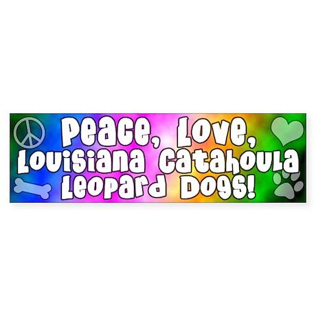 Hippie Catahoula Leopard Dog Bumper Sticker