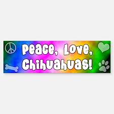Hippie Chihuahua Bumper Bumper Bumper Sticker