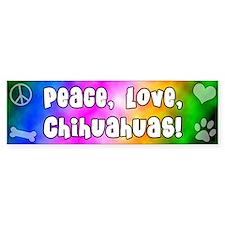 Hippie Chihuahua Bumper Bumper Sticker