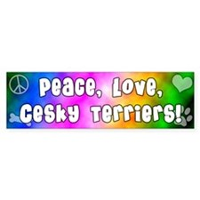 Hippie Cesky Terrier Bumper Bumper Sticker