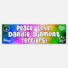 Hippie Dandie Dinmont Terrier Bumper Bumper Bumper Sticker