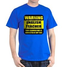 Warning english teacher sign T-Shirt