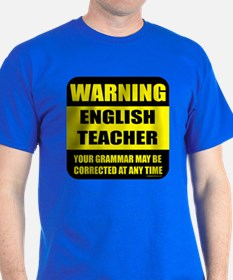 Warning english teacher sign T-Shirt