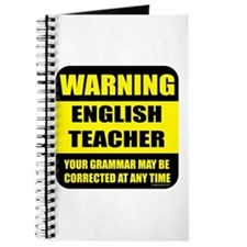 Warning english teacher sign Journal