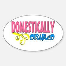 Domestically Disabled Oval Decal