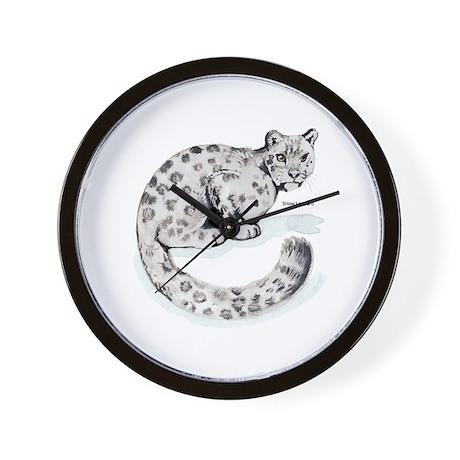 Snow Leopard Wild Cat Wall Clock