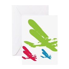 Cute Plane Greeting Card