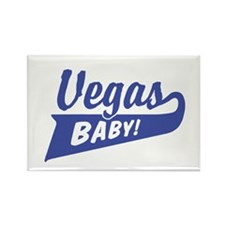 Vegas Baby Rectangle Magnet