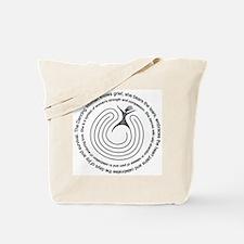 Labyrinth Dancing Woman Tote Bag