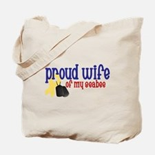 Proud Wife of my Seabee Tote Bag