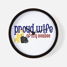Proud Wife of my Seabee Wall Clock
