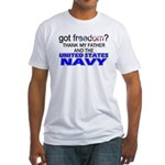 Got Freedom? Navy (Father) Fitted T-Shirt