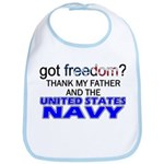Got Freedom? Navy (Father) Bib
