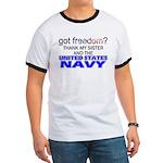 Got Freedom? Navy (Sister) Ringer T