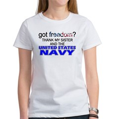 Got Freedom? Navy (Sister) Women's T-Shirt