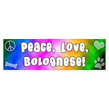 Hippie Bolognese Bumper Bumper Sticker