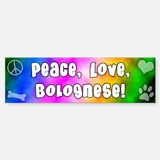 Hippie Bolognese Bumper Car Car Sticker