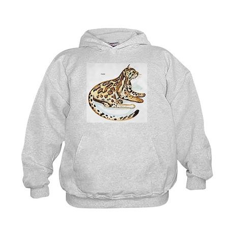 Ocelot Wild Cat Kids Hoodie