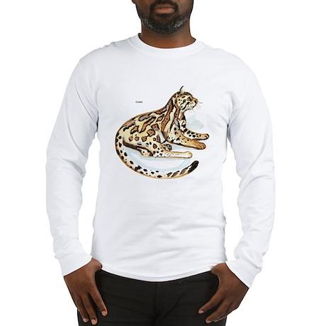 Ocelot Wild Cat Long Sleeve T-Shirt