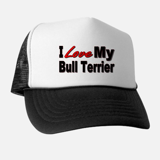 I Love My Bull Terrier Hat