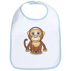 Cute 3D Monkey Bib