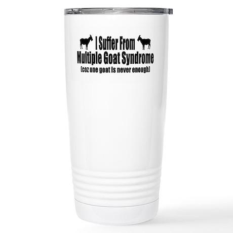 Multiple Goat Syndrome Stainless Steel Travel Mug