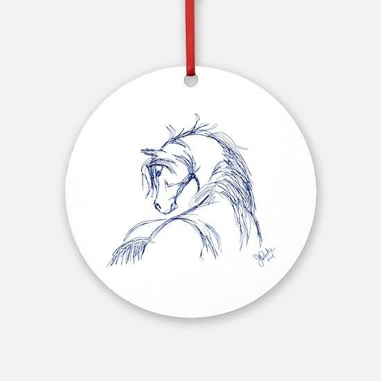 Horse Head Sketch Ornament (Round)