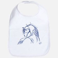 Horse Head Sketch Bib