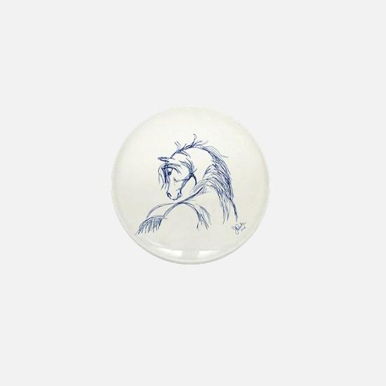 Horse Head Sketch Mini Button