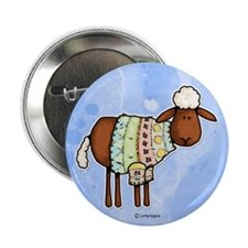 """woolly sweater 2.25"""" Button"""
