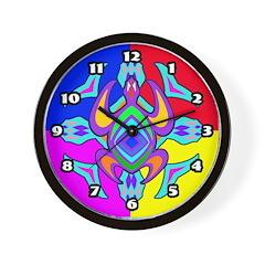 Turtle Symmetry Pattern Wall Clock