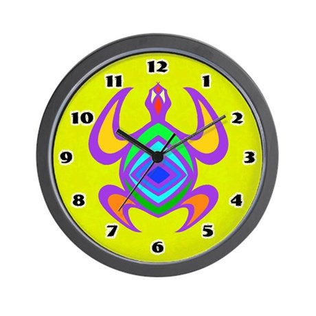 Turtle Symmetry Color Wall Clock