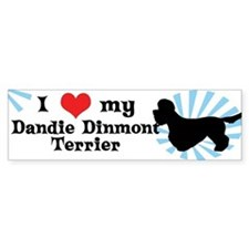 I Love My Dandie Dinmont Terrier Bumper Bumper Sticker