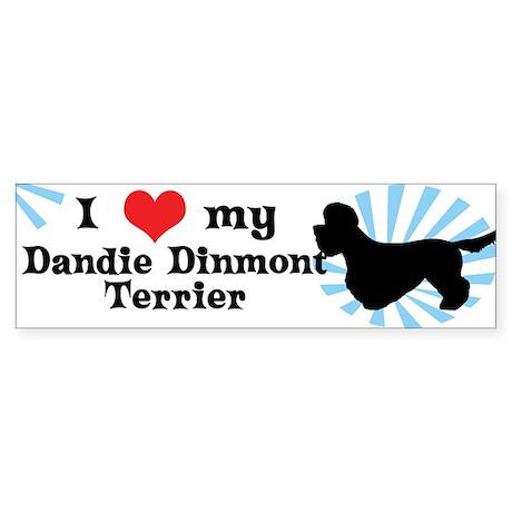 I Love My Dandie Dinmont Terrier Bumper Sticker