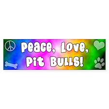 Hippie Pit Bull Bumper Car Sticker